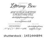 cute hand drawn vector alphabet ... | Shutterstock .eps vector #1451444894