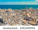 Aerial View Of Bari Old Town....