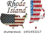 usa state of rhode island on a...   Shutterstock .eps vector #1451452217