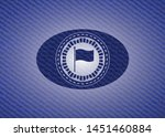 flag icon inside badge with...   Shutterstock .eps vector #1451460884