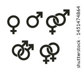 set of gender symbols and... | Shutterstock .eps vector #1451474864