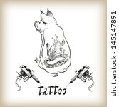 tattoo design vector... | Shutterstock .eps vector #145147891