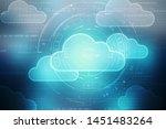 2d rendering technology cloud... | Shutterstock . vector #1451483264