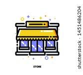 icon of store facade or market... | Shutterstock .eps vector #1451486204