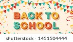 back to school card or banner... | Shutterstock .eps vector #1451504444