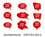 red discount stickers set.... | Shutterstock .eps vector #1451511611