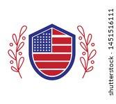 american flag logo design with...   Shutterstock .eps vector #1451516111