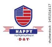 american flag logo design with...   Shutterstock .eps vector #1451516117