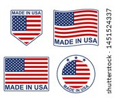 made in usa icon set with... | Shutterstock .eps vector #1451524337