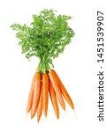 Fresh bundle of carrots ...