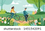 vector cartoon illustration in... | Shutterstock .eps vector #1451542091