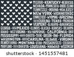poster of united states of... | Shutterstock .eps vector #1451557481