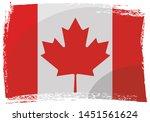 grunge canadian flag  vector...   Shutterstock .eps vector #1451561624