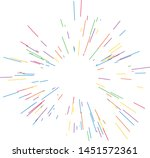 colorful fireworks radiating... | Shutterstock .eps vector #1451572361