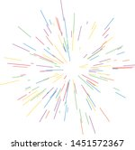 colorful fireworks radiating... | Shutterstock .eps vector #1451572367