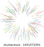 colorful fireworks radiating... | Shutterstock .eps vector #1451572391