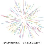 colorful fireworks radiating... | Shutterstock .eps vector #1451572394