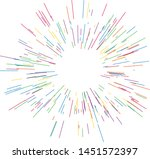 colorful fireworks radiating... | Shutterstock .eps vector #1451572397