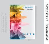 abstract banner template with... | Shutterstock .eps vector #1451572697