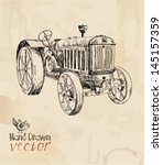 Tractor  Vintage  Element For...