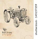 Tractor  Vintage  Element For...