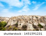 house on cliff in of goreme... | Shutterstock . vector #1451591231