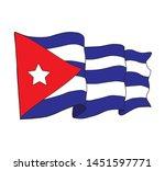 cuban flag  white background...   Shutterstock .eps vector #1451597771