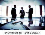 colleagues meeting to discuss... | Shutterstock . vector #145160614