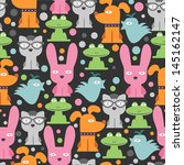 colorful seamless pattern with... | Shutterstock .eps vector #145162147