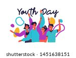 happy youth day greeting card... | Shutterstock .eps vector #1451638151