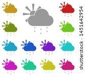 sun  cloud  rain multi color...