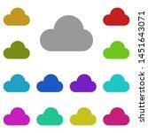 cloud multi color icon. simple...