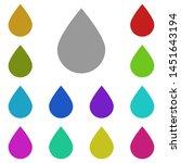 moisture drop multi color icon. ...