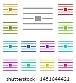 wrap  text multi color icon....