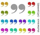 quote  text multi color icon....