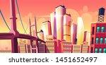 growing future city metropolis... | Shutterstock .eps vector #1451652497