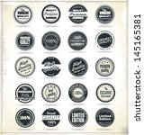 set of retro vintage labels | Shutterstock .eps vector #145165381