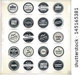 set of retro vintage labels | Shutterstock .eps vector #145165381