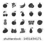 Fruit Silhouette Icons Set....