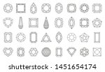 diamond faceting thin line icon ... | Shutterstock .eps vector #1451654174