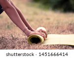 cropped image of girl rolling...   Shutterstock . vector #1451666414