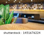 wood table with blur library... | Shutterstock . vector #1451676224