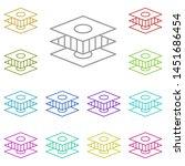 arrange  design multi color...