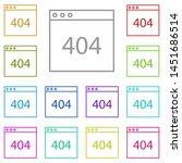 browser  error multi color icon....
