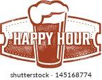 happy hour beer bar stamp | Shutterstock .eps vector #145168774