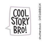 cool story bro sticker icon | Shutterstock . vector #1451688614