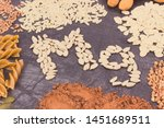 inscription mg and nutritious... | Shutterstock . vector #1451689511