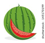 watermelon | Shutterstock .eps vector #145170199