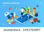 isometric screen for sport or... | Shutterstock .eps vector #1451702897