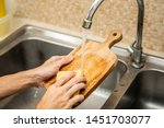 Cleaning Wood Cutting Board In...